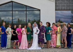 A couple days before the wedding the bride and bridesmaids all find the ugliest dresses and then go play paintball in the dresses!!!!! Love this idea!!!!!!