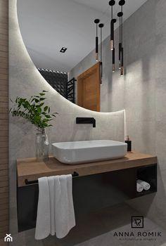 Washroom Design, Toilet Design, Bathroom Design Luxury, Modern Bathroom Design, Modern Bathroom Mirrors, Modern Lighting Design, Mirror Bathroom, Dream Bathrooms, Amazing Bathrooms