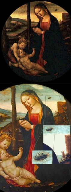 "UFO, Italy, 15 Century. This painting is called ""The Madonna with Saint…"