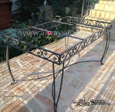 Wrought Iron Table Handmade.Dimensions: 140x80sm. / Height 72 sm. Shop online: www.alwayservice.eu