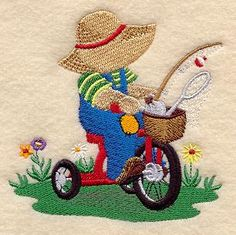 Machine Embroidery Designs at Embroidery Library! - Bicycles