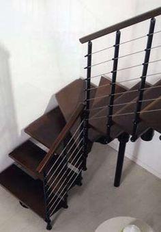 Escalera interior en ca o hierro acero inoxidable y - Modelos de escaleras de caracol para interiores ...
