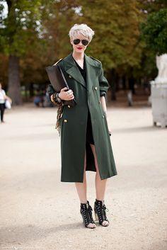 My Fashion Tricks: STREET STYLE: Military Jackets & Coats