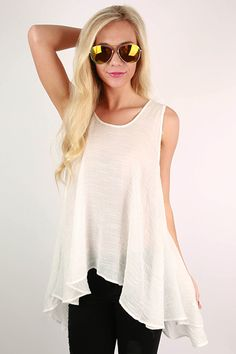 Vacation To Jamaica Flowy top in White