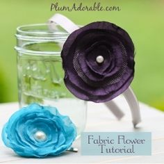 Make your own fabric flowers for hair or other crafts. No sew. Easy Tutorial.