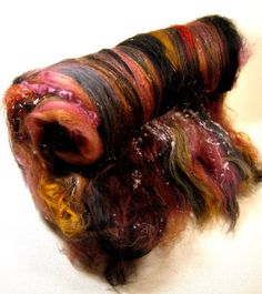 Embers & Ashes Wild Card Bling Batt for spinning and felting (3.4 ounces)