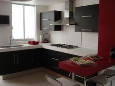 Cocinas Integrales Modernas Rojas Muebles-cocinas-integrales