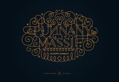 ornamental lettering by Boglárka Nádi, via Behance