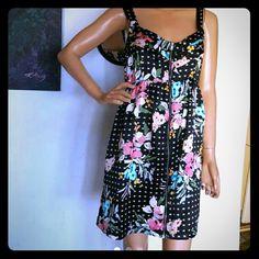 Bebop ZIPPER FLORAL DRESS Sz large BeBop Dresses Mini