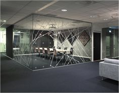 """""""The illustration for the identity is an abstract global system of interconnected computer networks between people,"""" explains Torgeir. The 'computer network' theme continues on into and through the business's office interiors, which were also designed by Work in Progress. A series of art images and other graphics combine to represent a further abstraction of the company's connectivity-centric skill sets."""