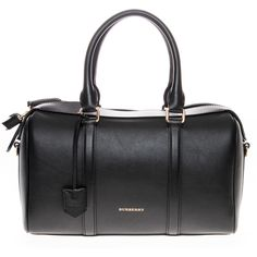 Burberry Medium Alchester in Leather ($1,500) ❤ liked on Polyvore featuring bags, handbags, black, bowling bag, burberry purses, satchel purse, leather bowling bag and handbags purses