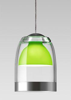 Light, transparent, glass, green, chrome