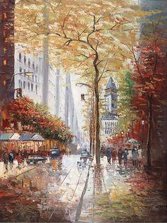 """French Street Scene II"" Canvas Wall Art ♥"