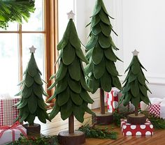 Green Felt Trees | Pottery Barn Kids - would be so easy to DIY!!!