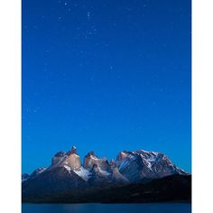 """""""Stars above Torres del Paine National Park in Southern Patagonia, Chile.  Just a few more months till I am back in one of my favorite places in the world for landscape photography. What's on your bucket list for 2016?"""" Photo taken by @colbybrownphotography on Instagram, pinned via the InstaPin iOS App! http://www.instapinapp.com (12/20/2015)"""