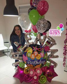 ¡Valentina Felicidades en tus 15 años!💖 ¡SURPRISE PRETTY! BOUQUETS DE GLOBOS PERSONALIZADO. Este diseño lo creamos con los colores… Large Balloons, Number Balloons, Letter Balloons, Love Balloon, Balloon Gift, Balloon Arch, Balloon Arrangements, Balloon Decorations, Balloon Ideas