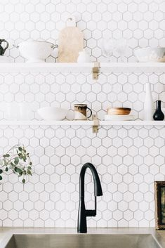 Kitchen or laundry room tile backdrop
