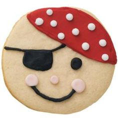 Ahoy, Matey! What's in your treasure chest? Trick or treaters will love seeing these cookies wearing a fun pirate disguise.