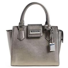 Catherine M Christina Gray Satchel Handbag Manufacturer: Catherine Malandrino Size: Medium Manufacturer Color: Pewter Retail: $98.00 Condition: New with tags Style Type: Satchel Collection: Catherine Malandrino Handle Type: Double Compartment: Open Slip Closure: Snap/Zipper Closure Bag Height (Inches): 8 1/2 Inches Bag Width (Inches): 10 1/2 Inches Bag Depth (Inches): 5 Inches Strap Drop (Inches): 5 1/2 Inches Material: Polyurethane/Polyester Fabric Type: Textured Specialty: Lined Catherine…