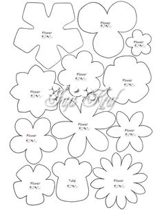 30 Images of Felt Flower Template Handmade Flowers, Diy Flowers, Fabric Flowers, Paper Flowers, Paper Butterflies, Felt Flower Template, Felt Templates, Felt Flower Tutorial, Printable Flower