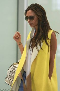 Victoria Beckham she is so fashionable love this coat