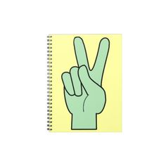 Peace Symbol Hand Spiral Note Books