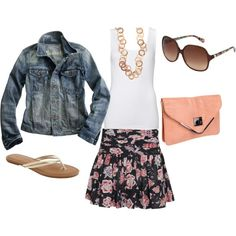 Summer Skirt, created by kris674 on Polyvore