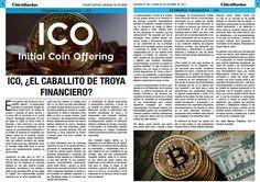ICO, ¿El Caballito de Troya financiero?: Edición impresa de la columna editorial de análisis financiero de Juan Marcos Tripolone en Cinco Ruedas: El Diario del Inversor Bursátil