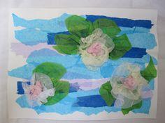 Water Lilies - Famous Artists Art Class - created after looking at artwork by Claude Monet Artist Monet, Artist Art, Kindergarten Art, Preschool Art, Easter Arts And Crafts, Montessori Art, Jr Art, Ecole Art, Art Activities