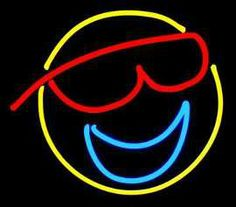 neon+facial+pictures   Neon Smiley Face Art Sculpture