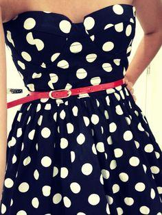 polka dots & neon