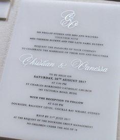 vinas invitation perspex invitation white acrylic invitation