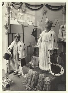 Scotch Wool Store Wimbledon Shop window display for Queens Coronation in 1953