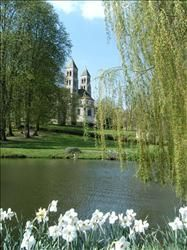 The view on the church from the pond