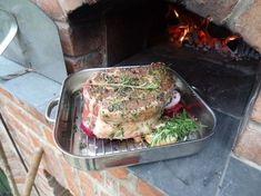 Pizza oven recipes wood fired - Rib Eye Roast w Herbs – Pizza oven recipes wood fired Wood Oven, Wood Fired Oven, Fire Cooking, Oven Cooking, Camping Cooking, Pizza Au Four, Oven Recipes, Cooking Recipes, Gastronomia