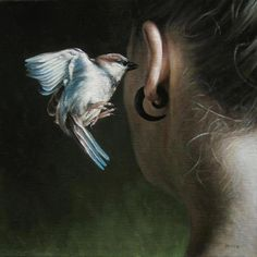 Pay attention to the animals that cross your path today. Look into them as you would look into a mirror.   Listen to their messages ~  Stay awake ~ Painted by Truls Espedal