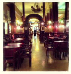 Café Tortoni in Buenos Aires / photo credit : Nathalie Rivard. Such a great memory with Jenny here!