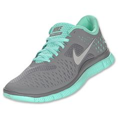 Nike Free Run 4.0 V2 Women's Running Shoes | FinishLine.com | Cool Grey/Silver/Tropical Twist
