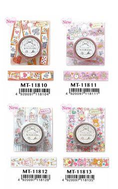 Miki Takei glitter masking tape MT11811; MT11812