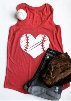 Baseball Mom Heart Print Funny Tank Tops Women's Casual Vest T-Shirt Blouse Tee *** Read more at the image link. (This is an affiliate link) Baseball Shirts, Sports Shirts, Baseball Tips, Baseball Stuff, Baseball Mom Tank Top, Baseball Outfits, Clemson Baseball, Baseball Sister, Baseball Fashion
