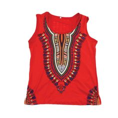 Traditional Print Stretch Tank Top (C-WS867)