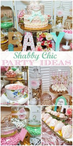 Vintage Shabby Chic Baby Shower Party Ideas | Photo 1 of 45