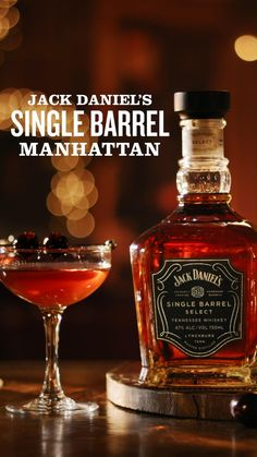 This holiday Manhattan took a pitstop in Tennessee. Made with a one-of-a-kind whiskey for a one-of-a-kind celebration. 2 oz Jack Daniel's Single Barrel 1/2 oz Sweet vermouth 1/2 oz Dry vermouth Mixed Drinks, Fun Drinks, Yummy Drinks, Alcoholic Drinks, Cocktails, Beverages, Holiday Desserts, Holiday Recipes, Jack Daniels Drinks