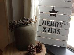 Kerstbordje, eenvoudig stoer!