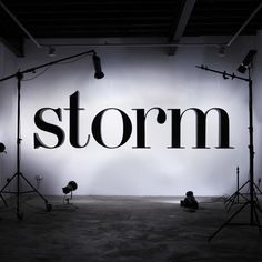 Storm Model Management #signage #typeface #typography
