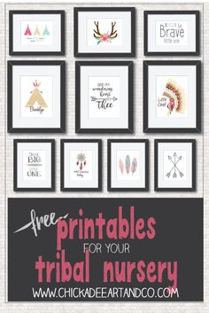 FREE Tribal Nursery Printables and Tribal nursery wall art courtesy of Chickadee Art and Company. We have over 300 FREE printables available.