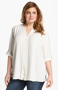 Sejour Twill Shirt (Plus Size) available at #Nordstrom.