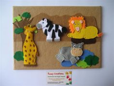 Felt story boards...  I Love the details on these animals!