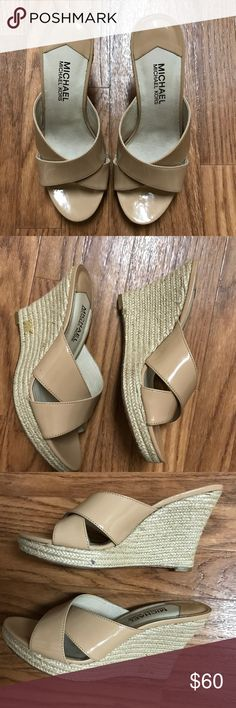 🔥MICHAEL KORS🔥Woman's Wedges Pre-Owned Woman's MICHAEL KORS Wedges Great Condition True to Size MICHAEL Michael Kors Shoes Wedges