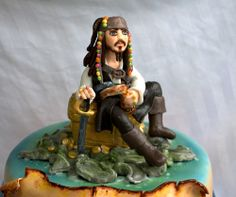 Jack Sparrow fondant cake topper